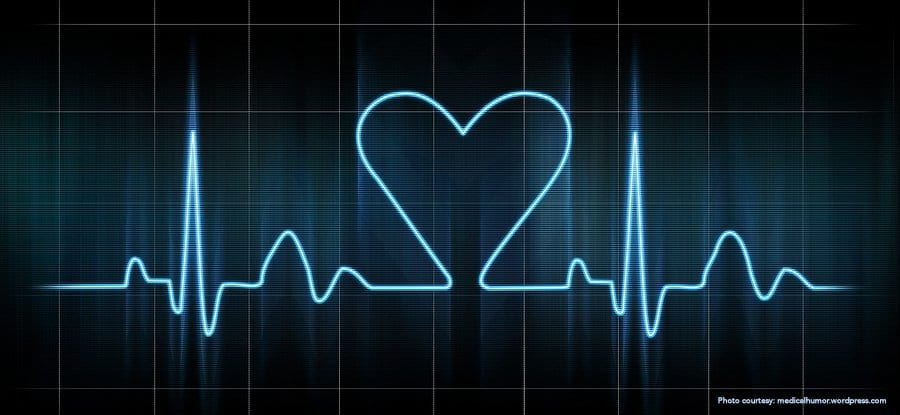 Heart shaped Electrocardiogram. Our Cardio Tech students share stories about their loved career.